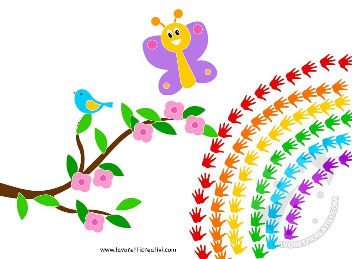 15 Disegni Da Colorare Di Primavera Paesaggi Arcobaleno Migliori