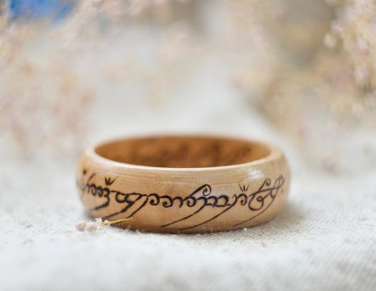 Made to order  LOTR inspired Woodburned  Ring of от PocketsOfArt