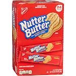 Nutter Butter Sandwich Cookies, 1.9 oz, 24-count