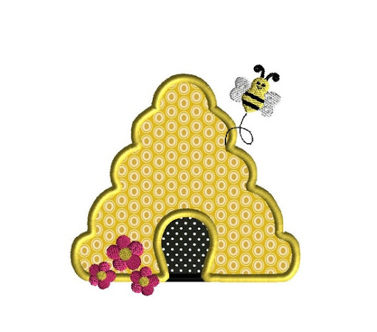 Bee Hive Applique Machine Embroidery Design-INSTANT by SewChaCha