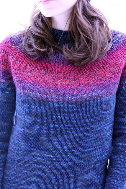 Handspun yoke sweater