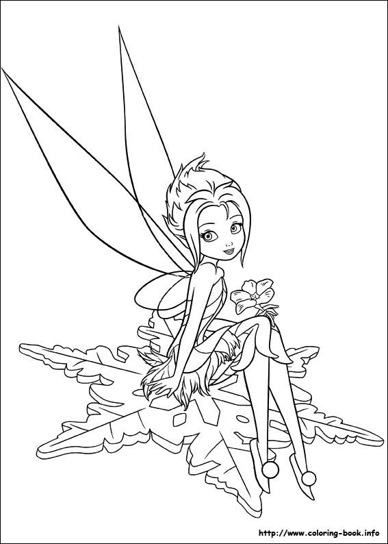 Cute Tinkerbell Coloring Pages - Coloring And Drawing