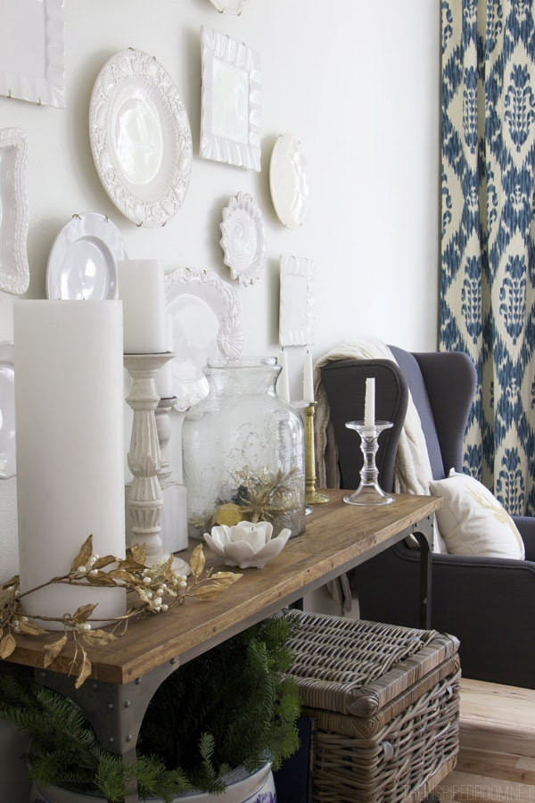 White and Gold Christmas Decorating in the Dining Room - The Inspired Room House Tour