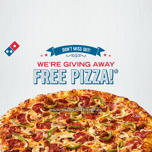 Detroit area friends - Domino's is giving away FREE pizza for a year*!