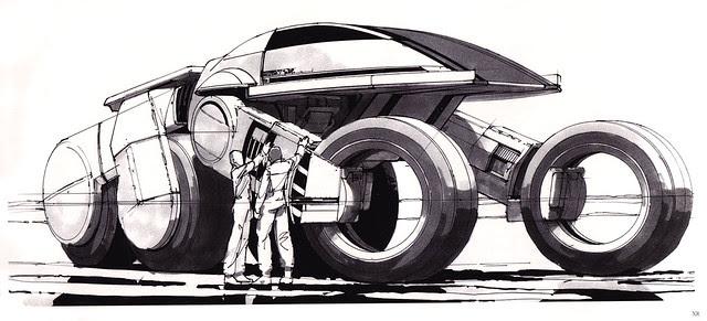 ... bw sketch - Syd Mead