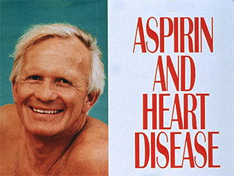 Aspiring and heart disease poster with portrait of a senior.