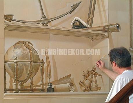 3 Boyutlu Duvar Boyama Sanatı Binbir Dekor