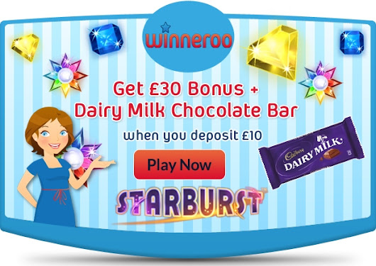 Get £30 Bonus + a Dairy Milk Chocolate Bar from Winneroo