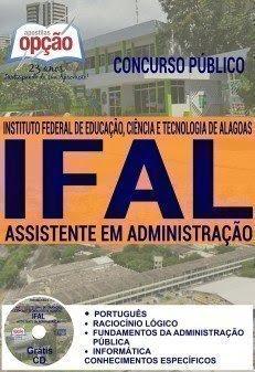 Apostila concurso ifal ASSISTENTE EM ADMINISTRAÇÃO