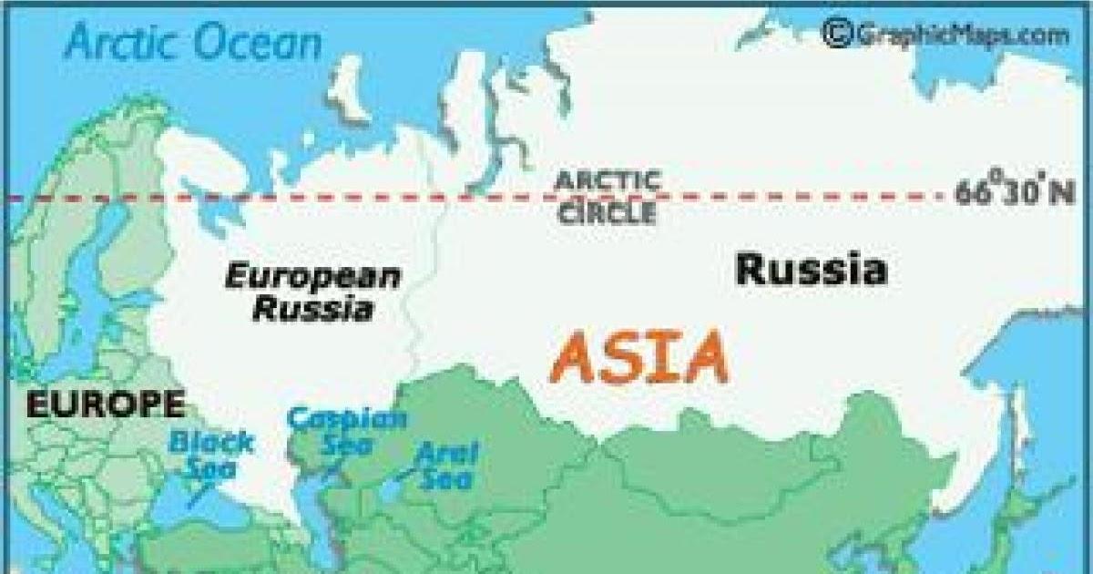 Russland Karte Europa Asien | Kart Over