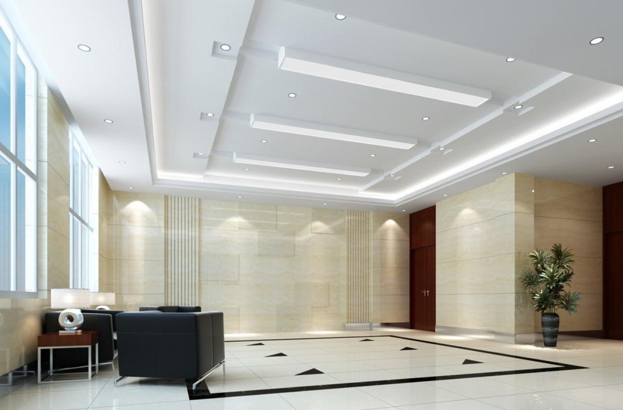 modern design living room plaster ceiling design