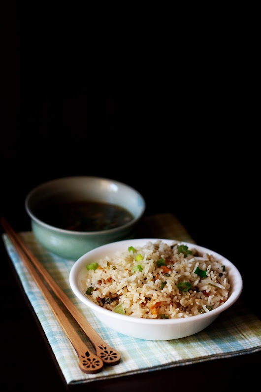 veg fried rice recipe, how to make delicious vegetable fried rice recipe