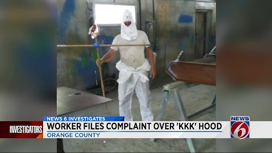 Mock KKK hood, burning cross prompt complaint at Orlando workplace
