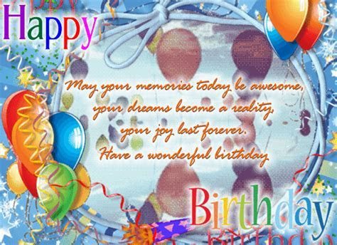 May Your Memories Be Awesome. Free Birthday Wishes eCards