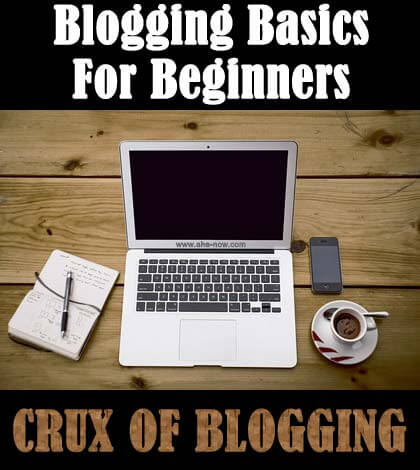 Blogging Basics: CRUX of Blogging for New Bloggers | Aha!NOW