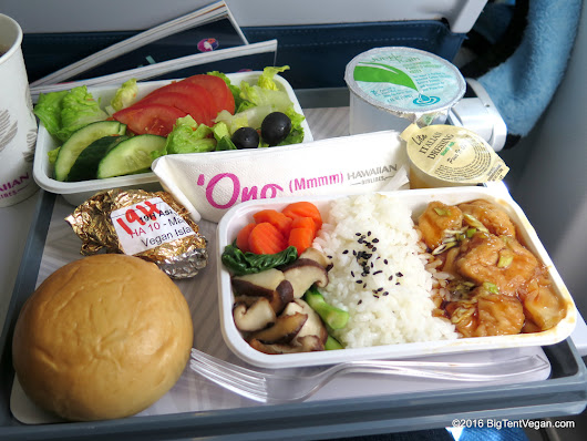 Vegan Meal Option on Hawaiian Airlines