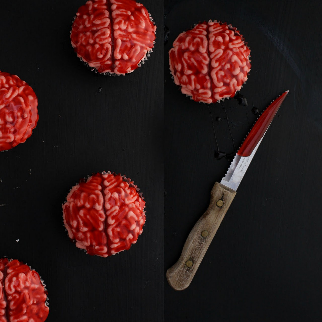DIY Brains Cupcakes from The Simple Sweet Life