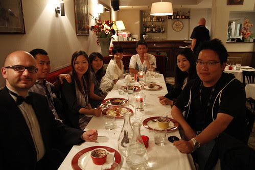 Group dinner during last evening in Cannes