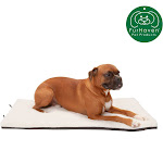 FurHaven Pet Kennel Pad   Orthopedic Faux Lambswool & Sherpa Pet Mattress For Crates & Kennels (Cream, Extra Large)