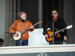Bruce and Pete at 2009 Inauguration