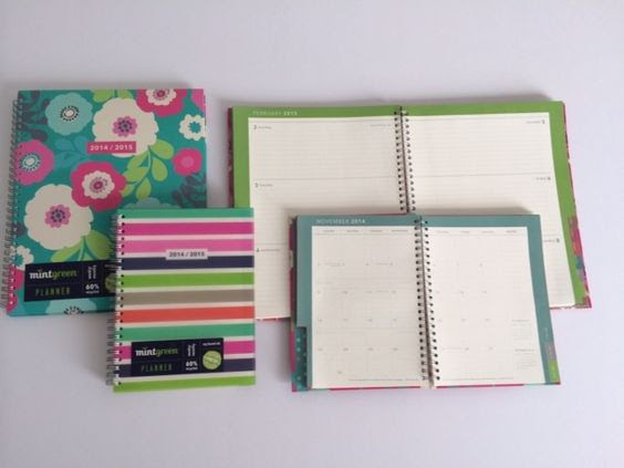 2014 - 2015 MintGreen Planners now at Wal-Mart. These are made by ...