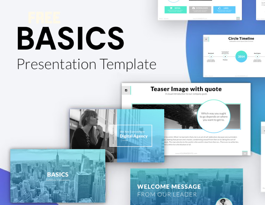 Basics Free Minimal Ppt Keynote Template Pixel Surplus Resources For Creators