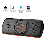 Aigoss Handsfree Bluetooth for Cell Phone, Car Bluetooth Speakerphone with Siri and Google Assistant, Wireless Car Kit Music Speaker Supports 2 Phones
