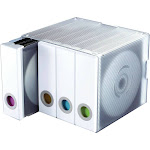 Atlantic Parade Storage media holder - Clear with white binder