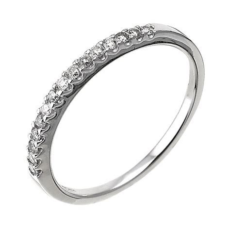 9ct white gold 15 point diamond wedding ring   Ernest Jones
