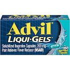 Advil Ibuprofen Pain Reliever/Fever Reducer, 200 mg, Liqui-Gels - 160 count