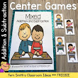 Back to School FREE Mixed Addition and Subtraction Center Game