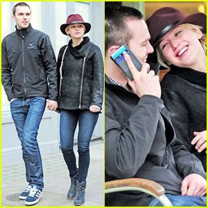 Jennifer Lawrence & Nicholas Hoult Hold Hands, Look So in