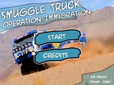 Un juego sobre migrantes en una camioneta