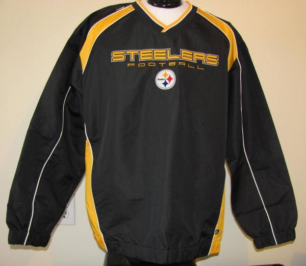 Pittsburgh Steelers Pullover Windshirt/Jacket New Mens Sz L NFL Team Apparel  eBay