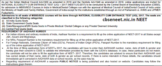 www.cbseneet.nic.in- NEET Application Form 2017 OFFICIAL WEBSITE
