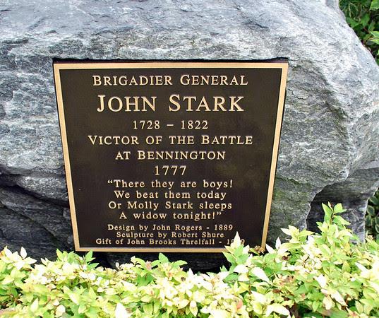 John Stark Statue Plaque