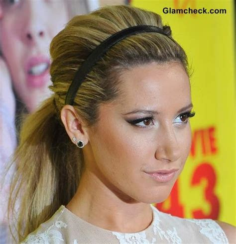 hairstyle diy wear ponytail  headband  ashley