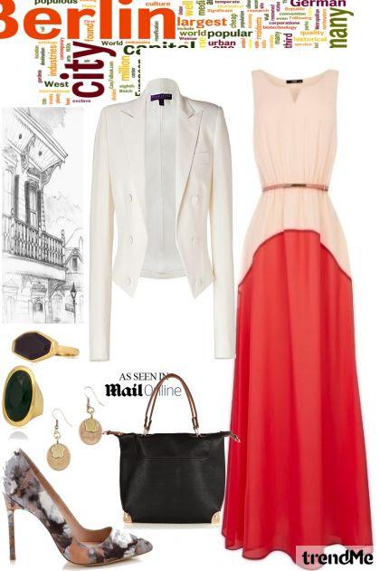 combinação de moda -  vestido longo