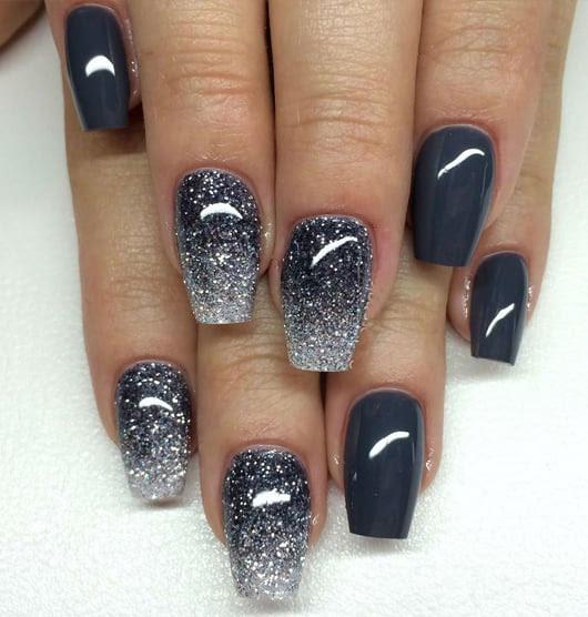 Nail Art Grey