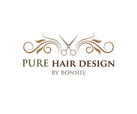 elegant modern salon logo design  pure hair design