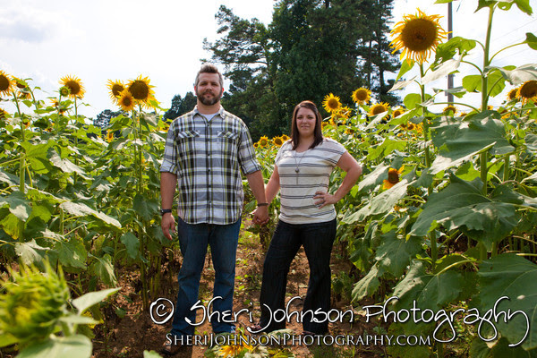 Sunflower Farm Engagement in Cumming, GA