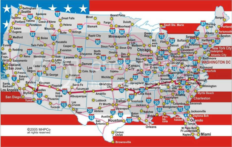 Us Map Interstate 40 Autobedrijfmaatje - Us-highway-40-map