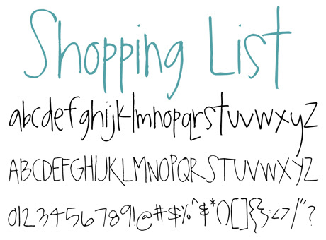 click to download Shopping List