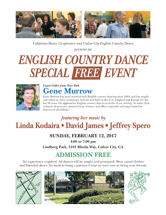 FREE Special Event with Guest Caller Gene Murrow! - Culver City English Country Dance