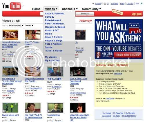 Youtube Yenileniyor
