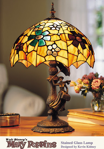 Mary Poppins Stained Glass Lamp 40th