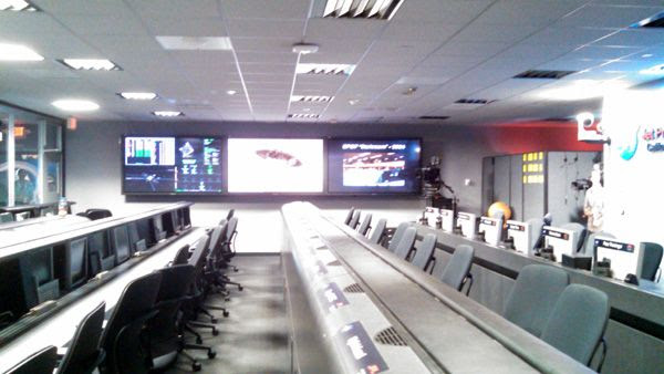 Visiting the Mission Support Room inside the Space Flight Operations Facility at NASA's Jet Propulsion Laboratory near Pasadena, CA...on October 12, 2014.