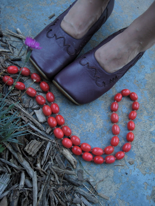 shoes+beads
