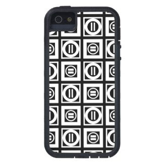 White on Black Geometric Equal Sign Pattern iPhone SE/5/5S Case