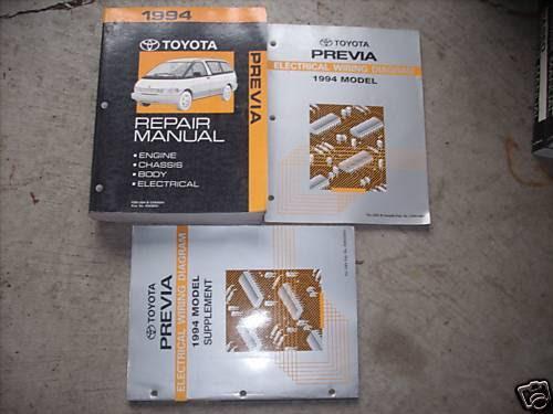 1994 Toyota Previa Service Repair Shop Manual Set W Electrical Wiring Diagrams Auto Parts Accessories Repair Manuals Literature